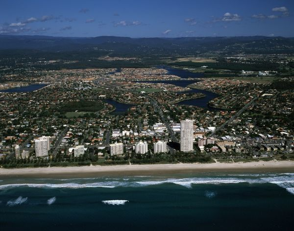 Miami, North Burleigh Beach. Gold Coast, Queensland, Australia