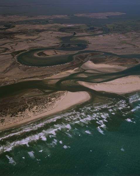 Murray River mouth with Younghusband and Sir Richard Peninsulas