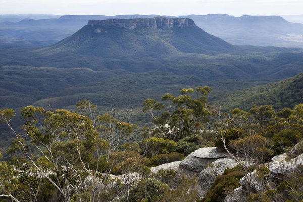 Pantoneys Crown from McLeans Pass, Gardens of Stone National Park, New South Wales, Australia