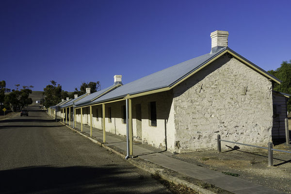 Paxton Square Cottages built in the 1850s for miners and their families