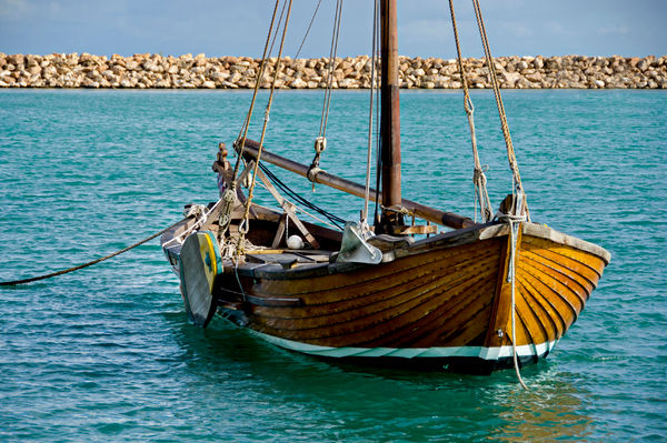 Western Australian Museum - Geraldton. Full-size replica of the longboat that carried survivors from the wreck of the 'Batavia' in 1629. The longboat is used today to give visitors a taste of maritime life in the 17th century. Geraldton, Mid West region