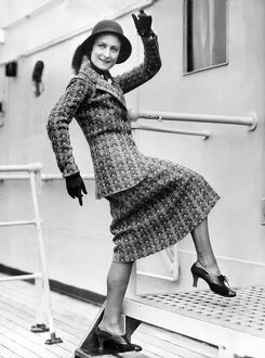1931: an upbeat and lively passenger boards the Matson liner, SS