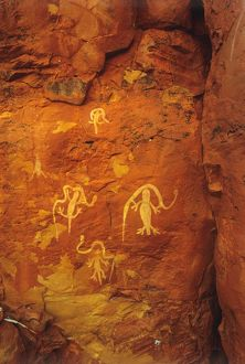 Aboriginal rock paintings.