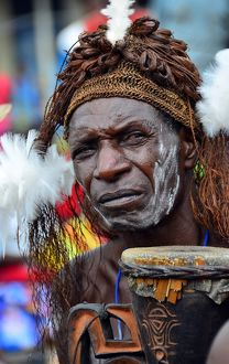 An Asmat region villager performer
