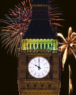 Big Ben and fireworks