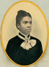 vintage historical/ca 1880 hand tinted portrait young african american