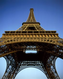 The Eiffel Tower, low angle view,