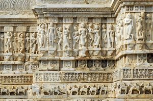Elaborate frieze on the Jagdish Mandir Temple
