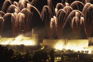 Fireworks over the Old City Wall