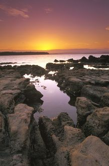Foreshore at sunset,