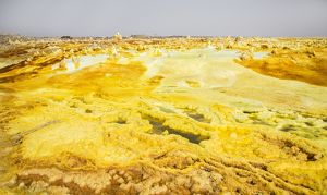 Hydrothermal field at Dallol volcano in the Danakil Depression
