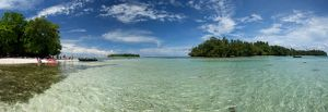 Lagoon at the centre of the tiny Tami Islands,