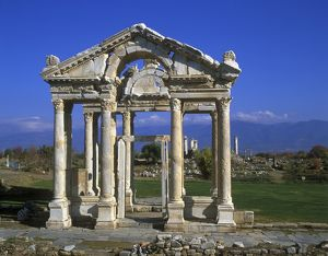 Monumental gateway or tetrapylon to the Sanctuary of Aphrodite,
