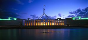 Parliament House at twilight