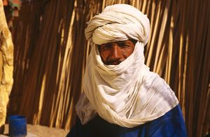 Portrait of Tuareg man from Outoul oasis.