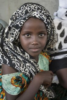 Portrait of young Afar girl