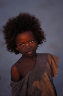 Portrait of young Malagasy girl,